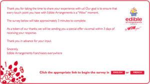Edible Arrangements Customer Experience Survey
