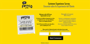Fresco Y Mas Customer Experience Survey