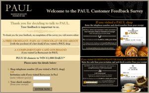 Paul Customer Feedback Survey
