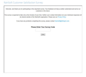 RainSoft Customer Satisfaction Survey