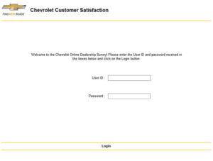 Chevrolet Customer Satisfaction Survey
