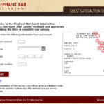 Elephant Bar Guest Satisfaction Survey
