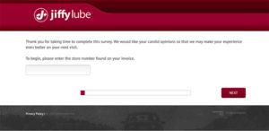 Jiffy Lube Customer Feedback Survey