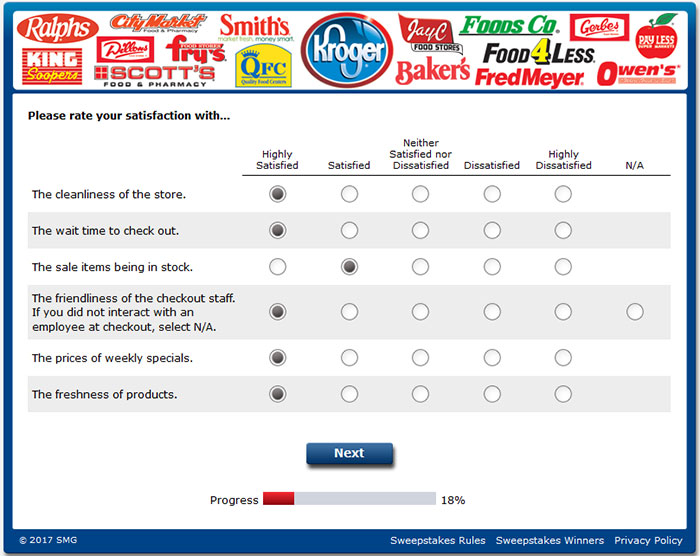 Kroger Customer Satisfaction Survey Questions 3 Guest Satisfaction