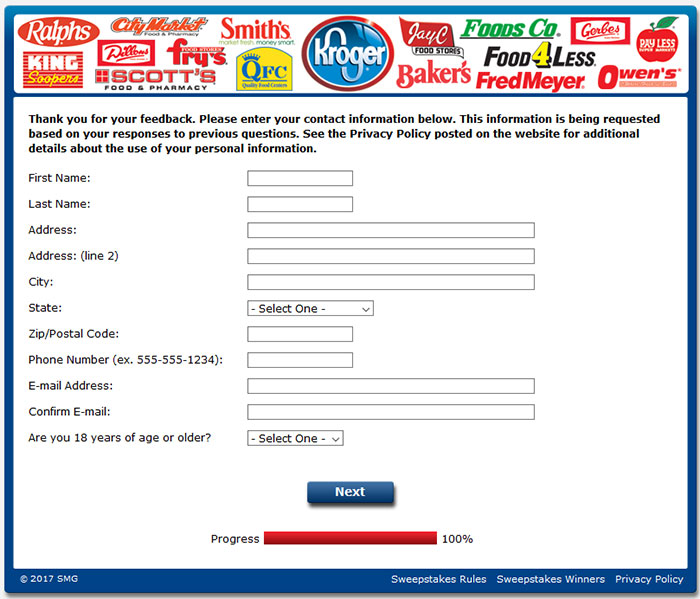 Kroger Customer Satisfaction Survey Questions 5 Guest Satisfaction