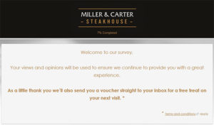 Miller & Carter Guest Satisfaction Survey