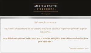 Miller & Carter Guest Satisfaction Survey
