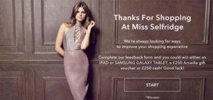 Miss Selfridge Store Feedback Survey