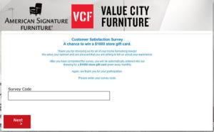 Value City Furniture Customer Satisfaction Survey