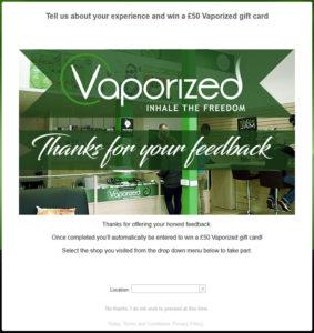 Vaporized Customer Satisfaction Survey