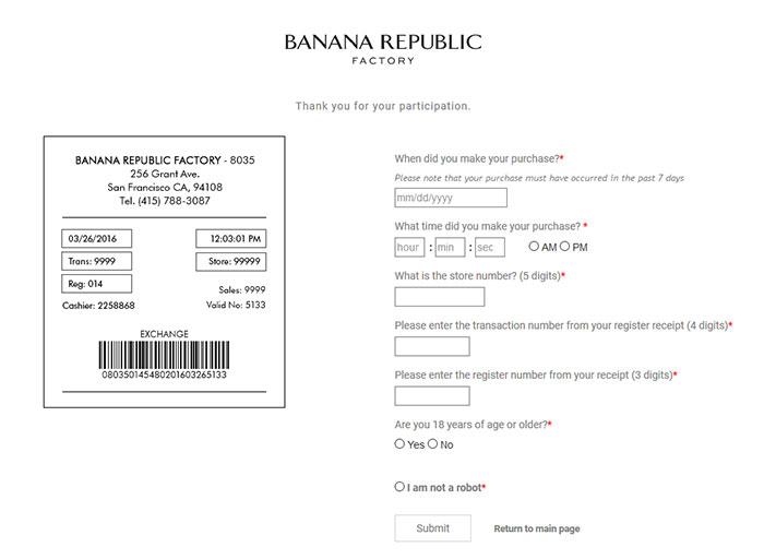 banana republic price adjustment